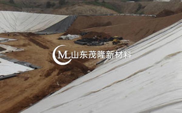 《山东滨州垃圾填埋场》土工布、土工膜施工