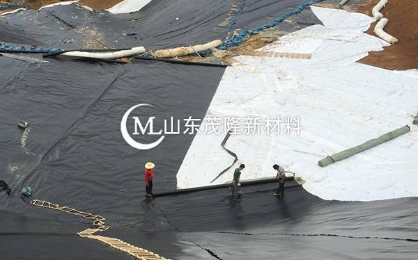《菏泽曹县垃圾发电厂》土工布、土工膜施工