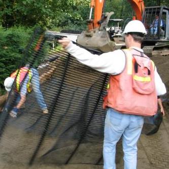 各种工程中单向土工格栅的作用分享  第1张